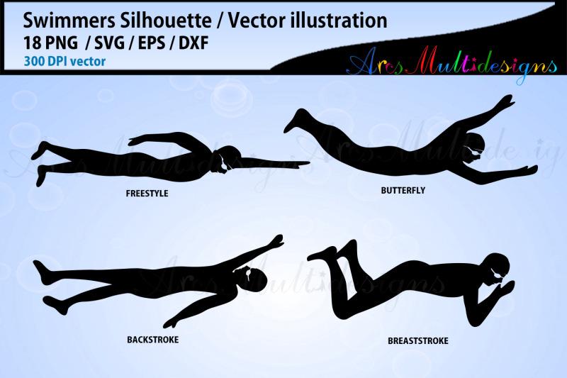 Swimmers Svg Silhouette Bundle Swimmer Svg Bundle Swim Cut Files