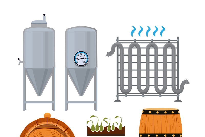 set-icons-of-brew-beer-production