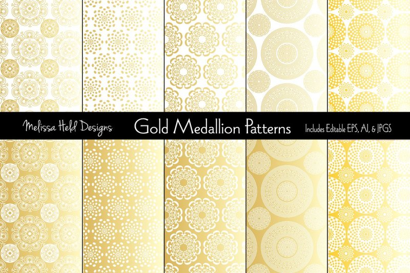 gold-medallion-patterns