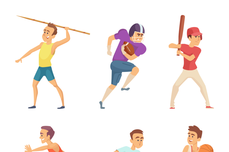 vector-illustrations-of-sport-people-playing-games