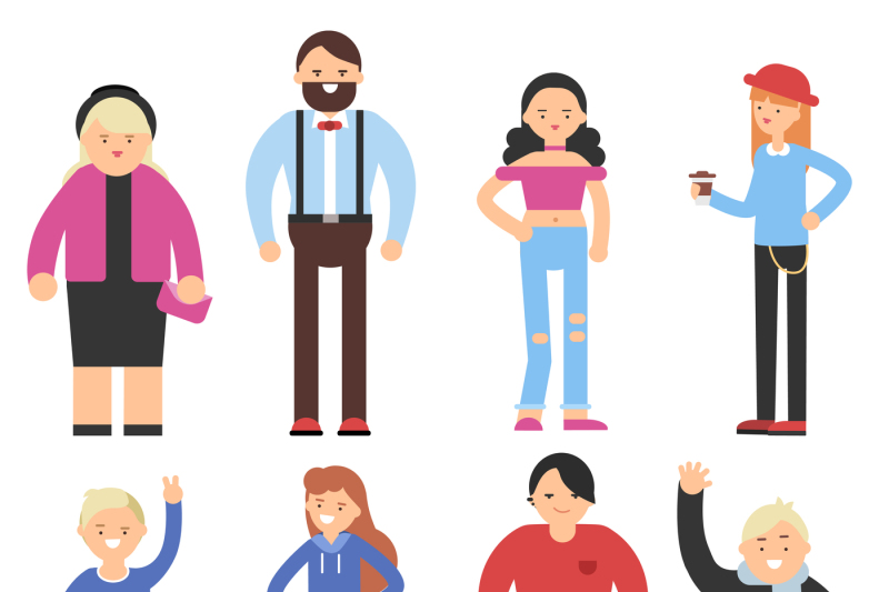 cartoon-flat-characters-of-different-peoples