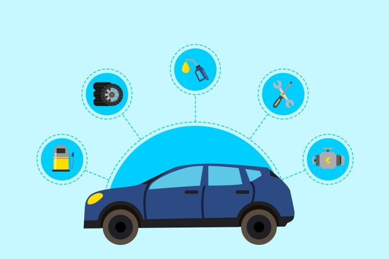 vector-concept-illustration-with-flat-style-car-service-elements