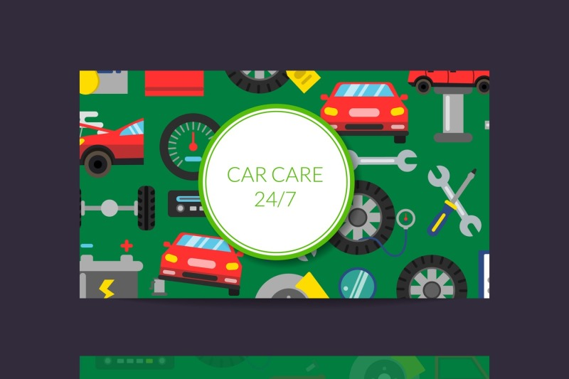 vector-business-card-template-for-auto-parts-store-or-car-service-with