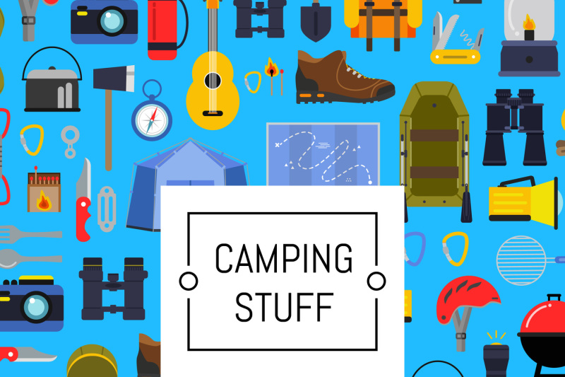 vector-flat-style-camping-background-illustration