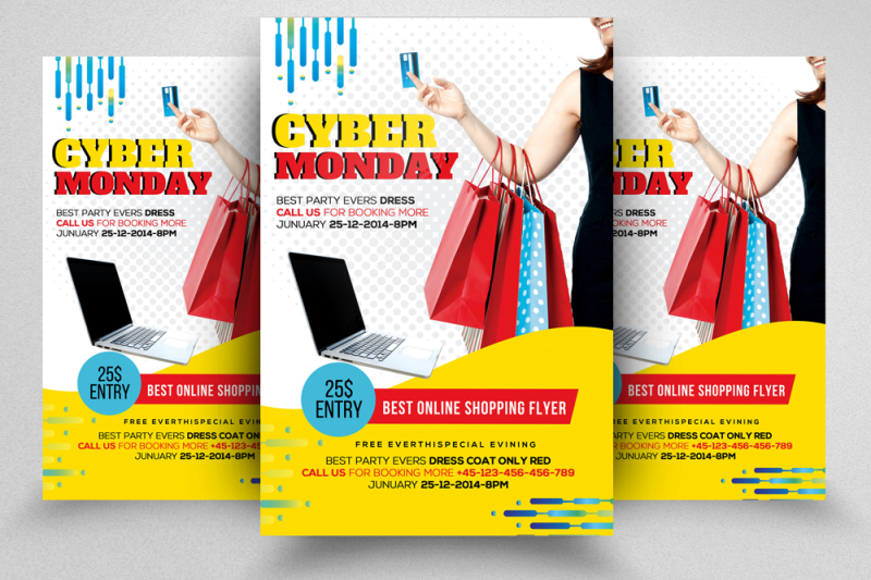 10-cyber-monday-flyers-bundle