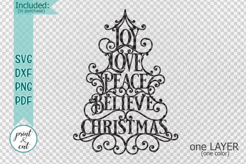 joy-love-peace-believe-christmas-svg-dxf-pdf-cut-file