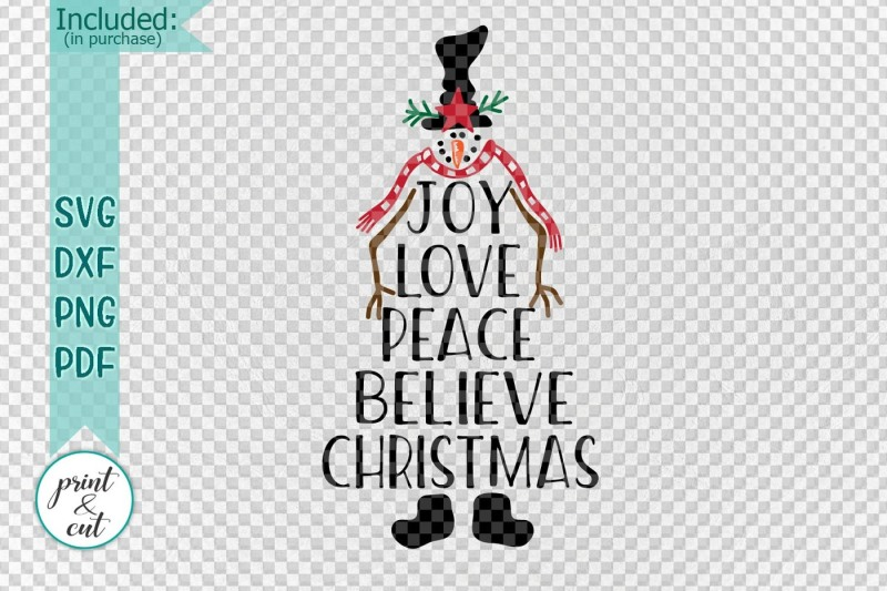 2002+ Joy Hope Love Peace Christmas Svg SVG PNG EPS DXF File