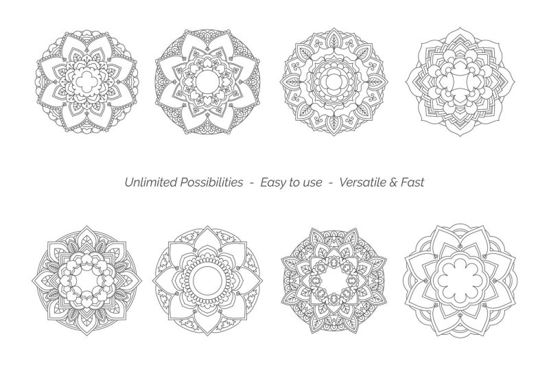 Mandala Creator Pro // Coloringbook Mandala Toolkit By VectorNomad ...