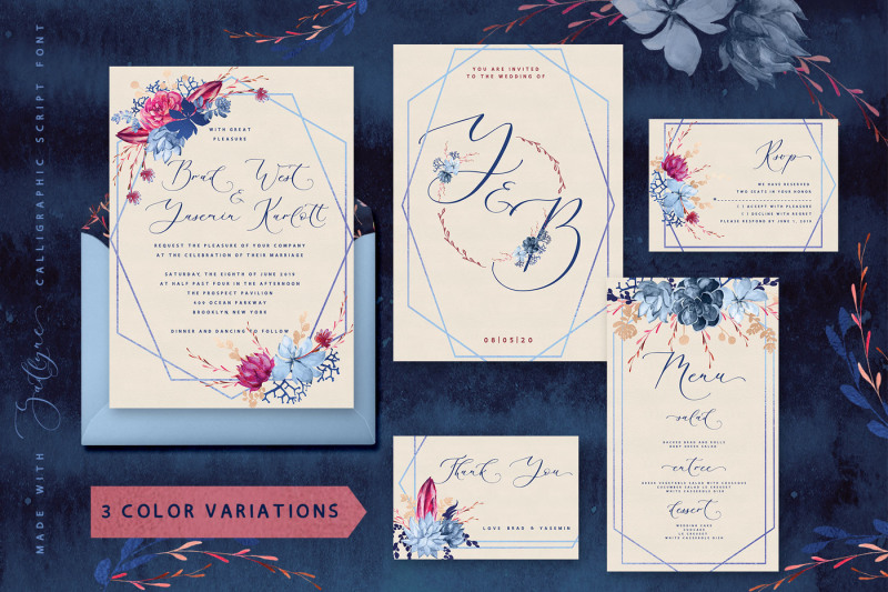 floral-wedding-graphic-and-font-set