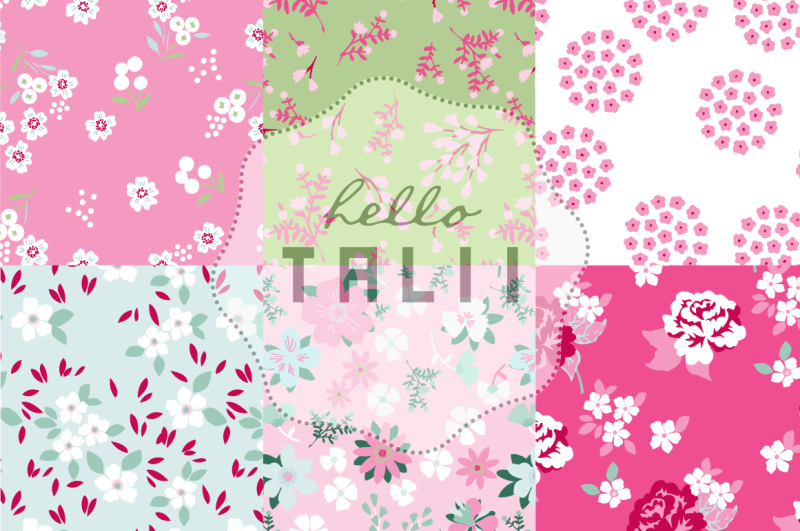 pink-flowers-digital-paper