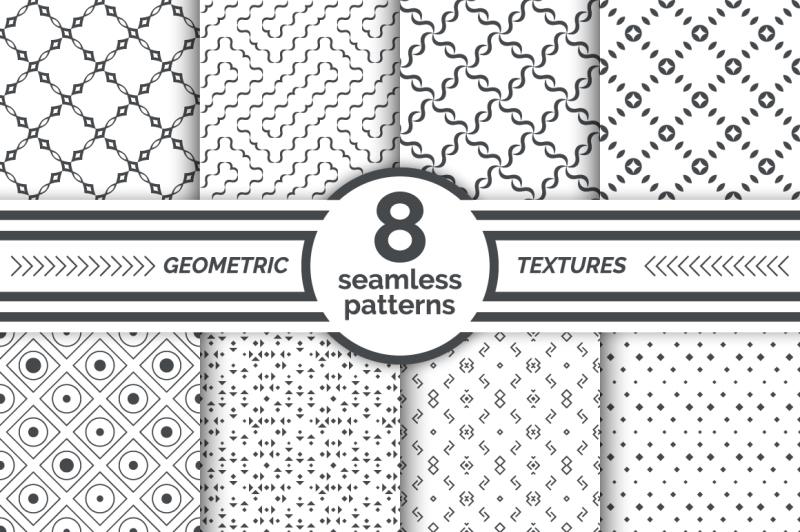 set-of-geometrical-seamless-patterns