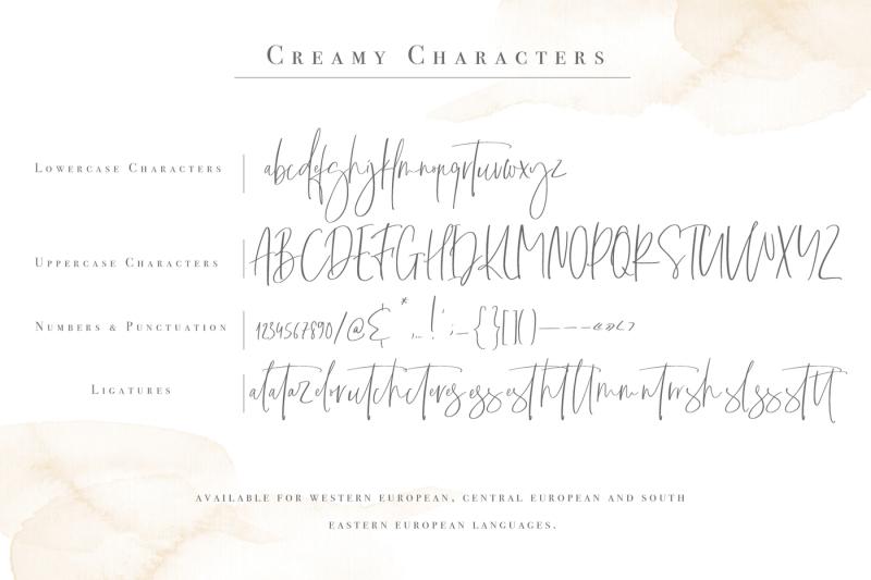 creamy-handwritten-font