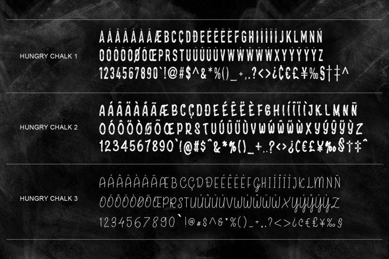hungrychalk-typeface