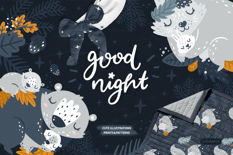 good-night-sleeping-forest-animals
