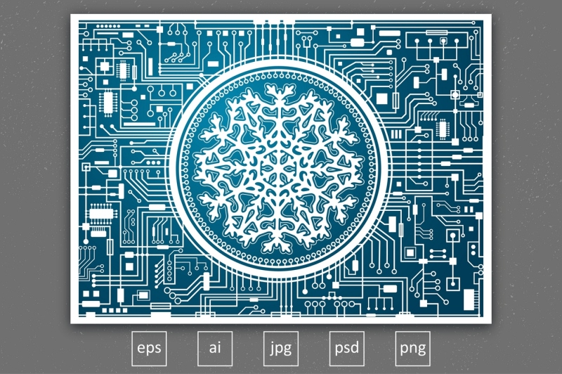 christmas-background-with-snowflake-vector