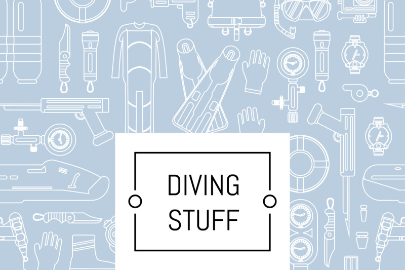 vector-underwater-diving-linear-style-background-with-place-for-text