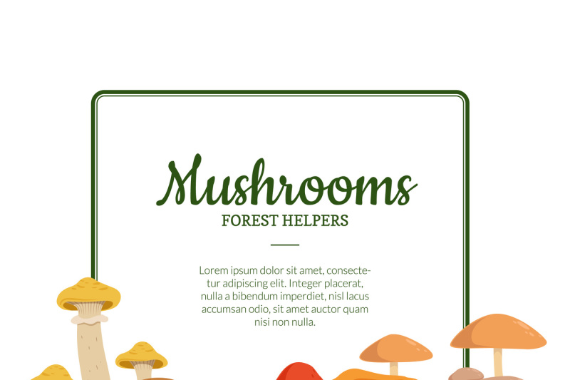 vector-frame-with-cartoon-mushrooms