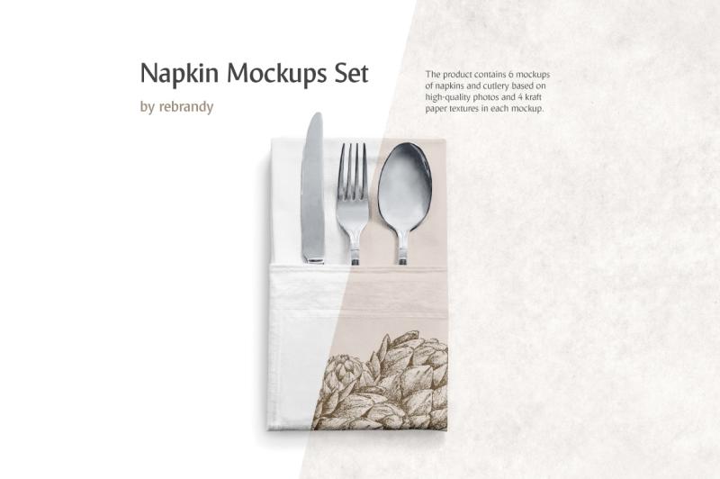 Free Napkin Mockups Set (PSD Mockups)