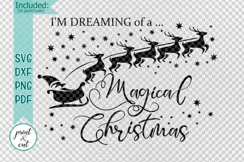 white-magical-christmas-words-house-decor-for-cut-or-print