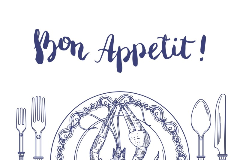 vector-background-with-place-for-text-and-hand-drawn-tableware