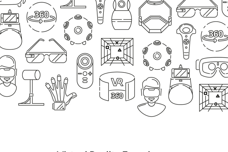vector-background-with-linear-style-virtual-reality-elements