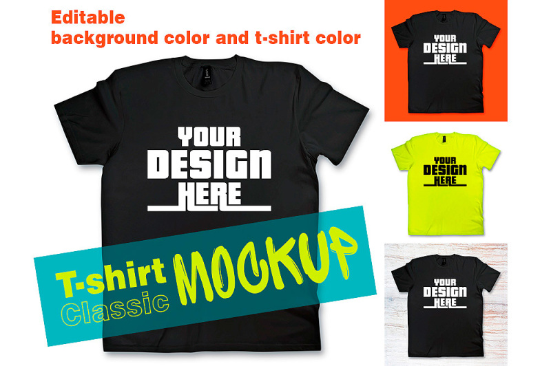 Free Classic T-shirt Mock up - Psd File with Layers (PSD Mockups)