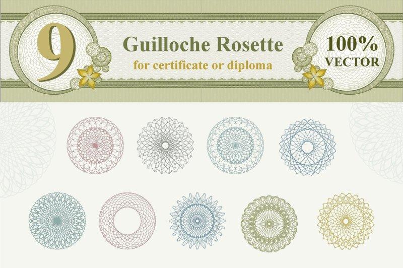 guilloche-rosette