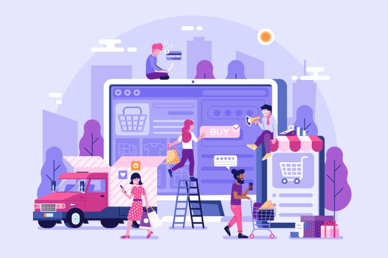 online-shopping-concept-banner