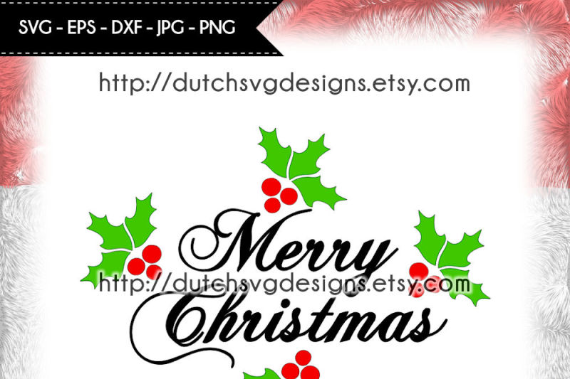 text-cutting-file-merry-christmas-with-holly-leaves-christmas-svg
