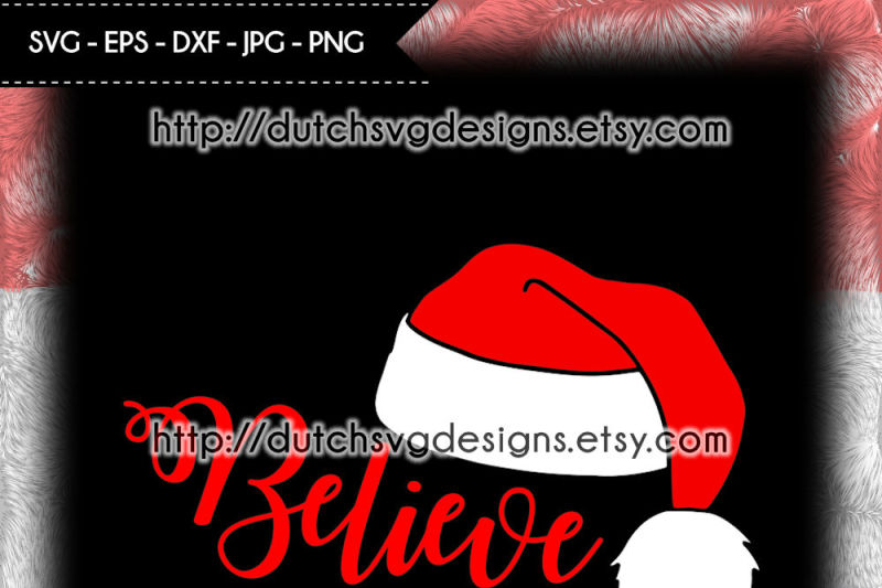 cutting-file-believe-with-santa-hat-christmas-svg-santa-hat-svg