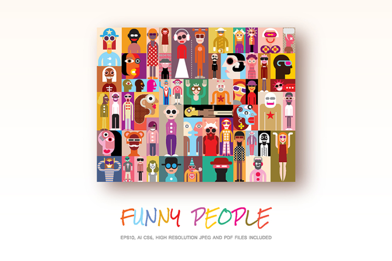 funny-people-vector-illustration