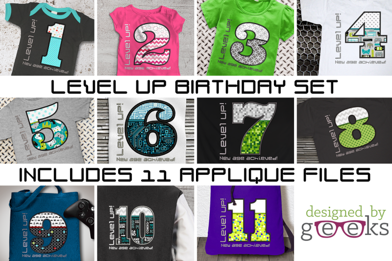 level-up-video-game-birthday-bundle-applique-embroidery
