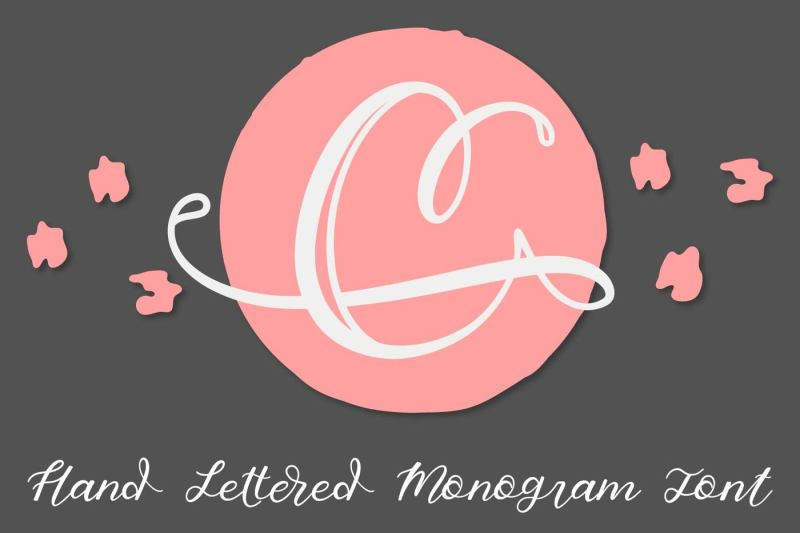 hand-lettered-monogram-font