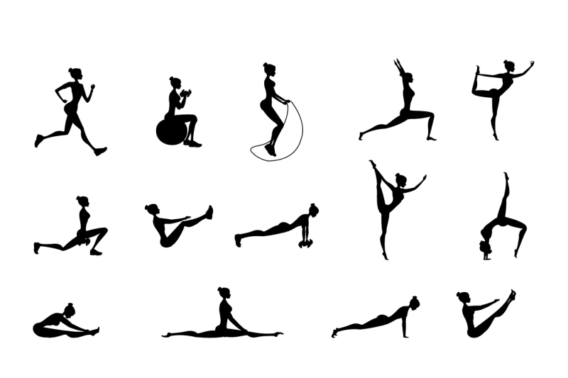 set-of-female-fitness-and-yoga