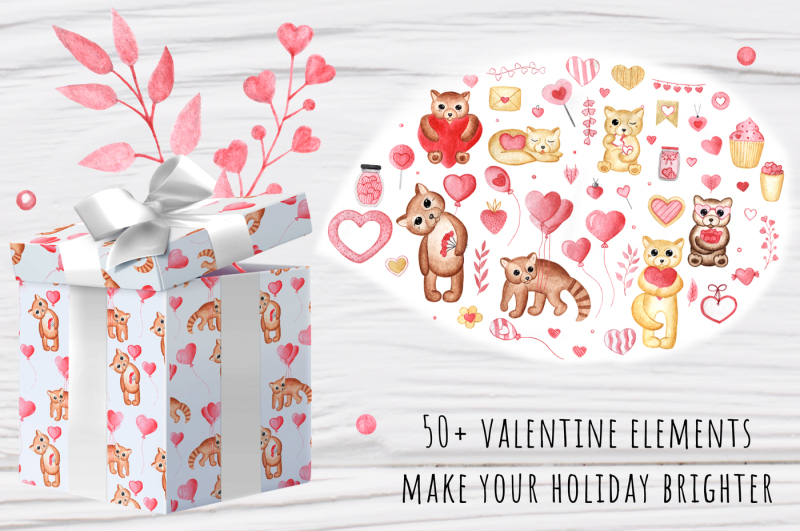 watercolor-valentine-set
