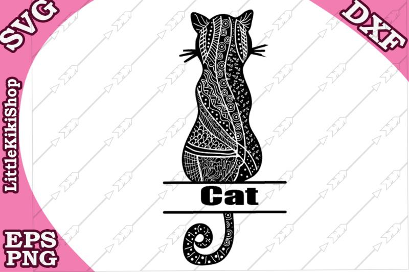 zentangle-cat-monogram-svg-mandala-cat-svg-cat-split-monogram