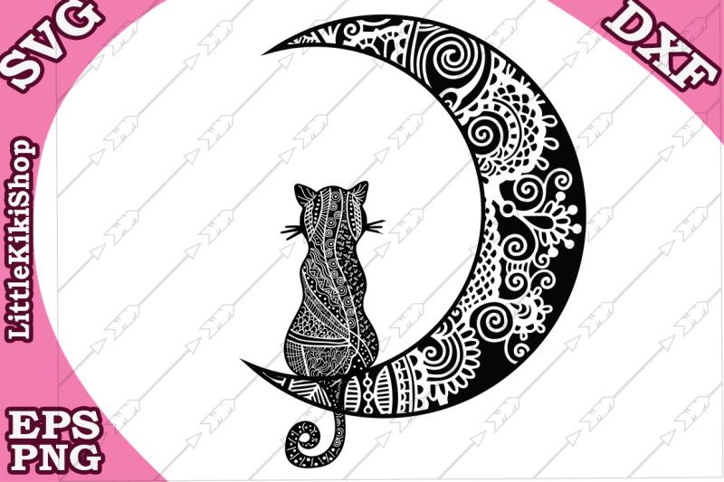 cat-and-the-moon-svg-mandala-cat-svg