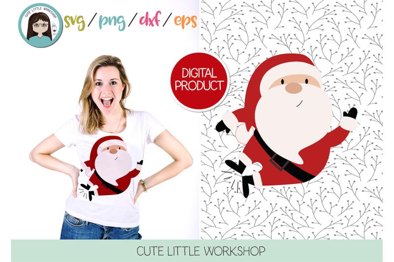 santa-claus-jumping-svg-dxf-png-eps