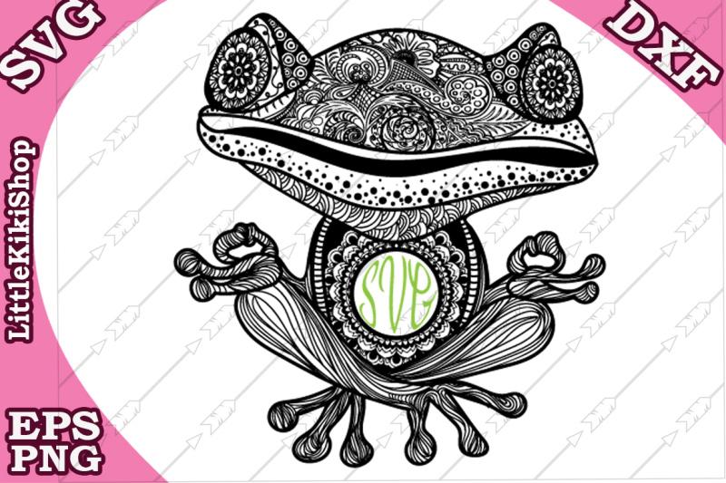 yoga-frog-monogram-svg-mandala-frog-svg-yoga-svg-funny-frog-svg