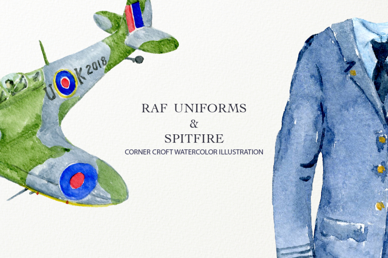 raf-uniforms-and-spitfire-fighter