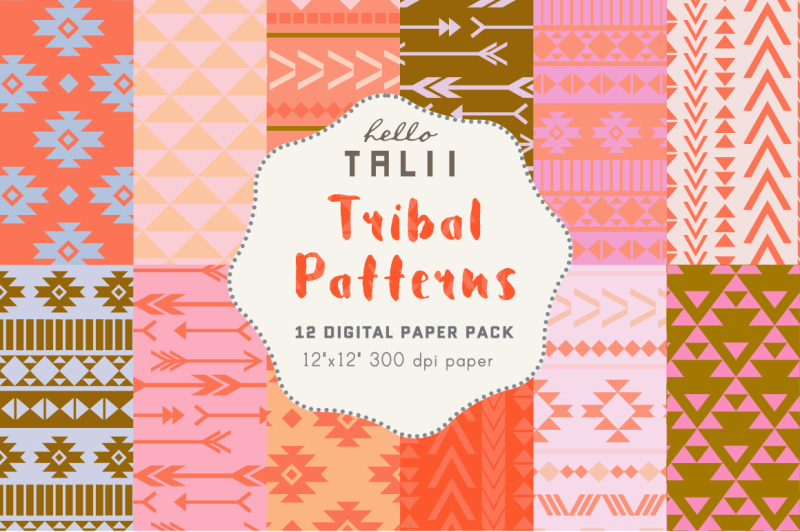 coral-and-pink-tribal-patterns