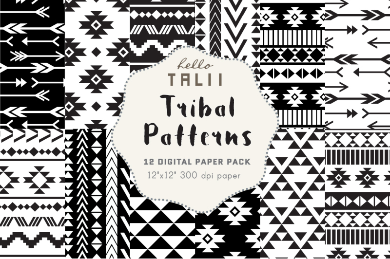 black-and-white-tribal-patterns