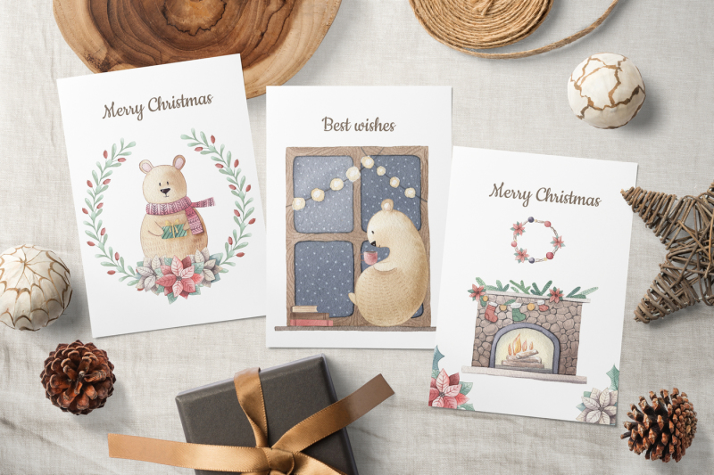 one-bear-christmas-story-watercolor-set