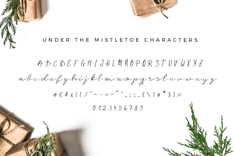 under-the-mistletoe-script-font