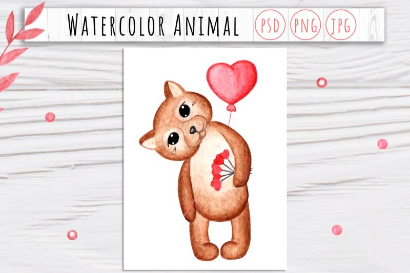 watercolor-valentine-animal