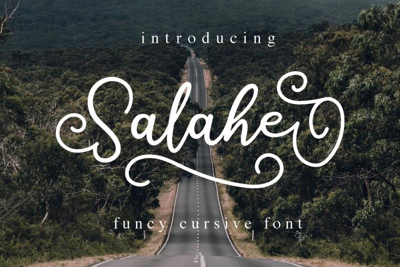 salahe-a-funcy-cursive-font