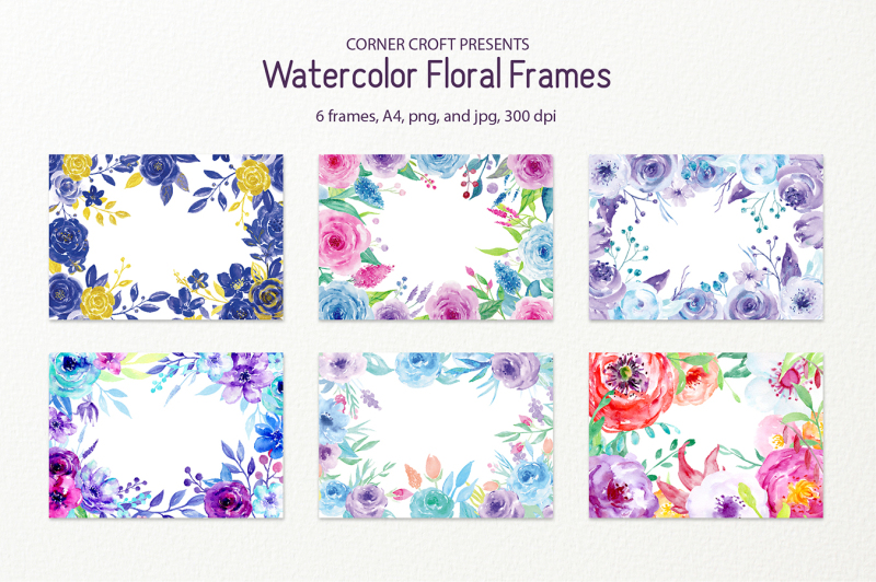 watercolor-floral-frames