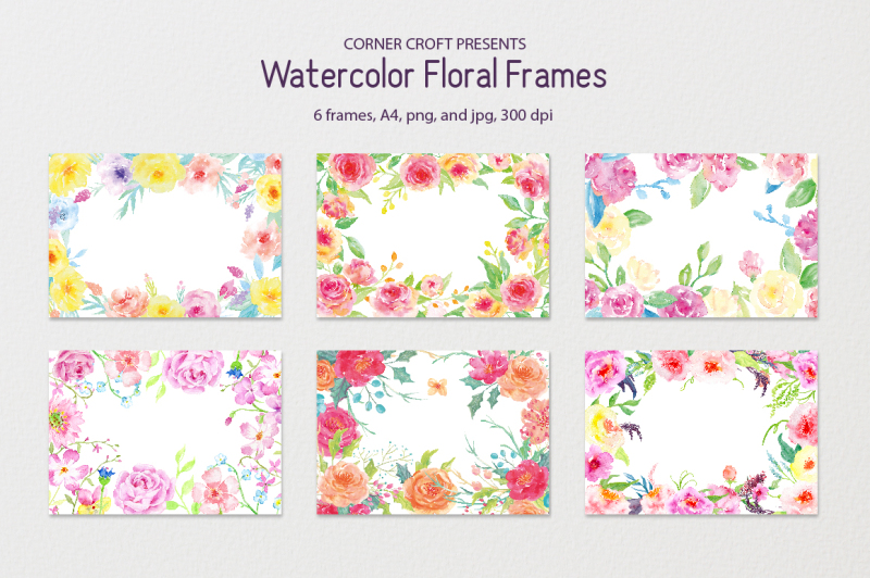 watercolor-floral-frames-8-x-11-5-a4
