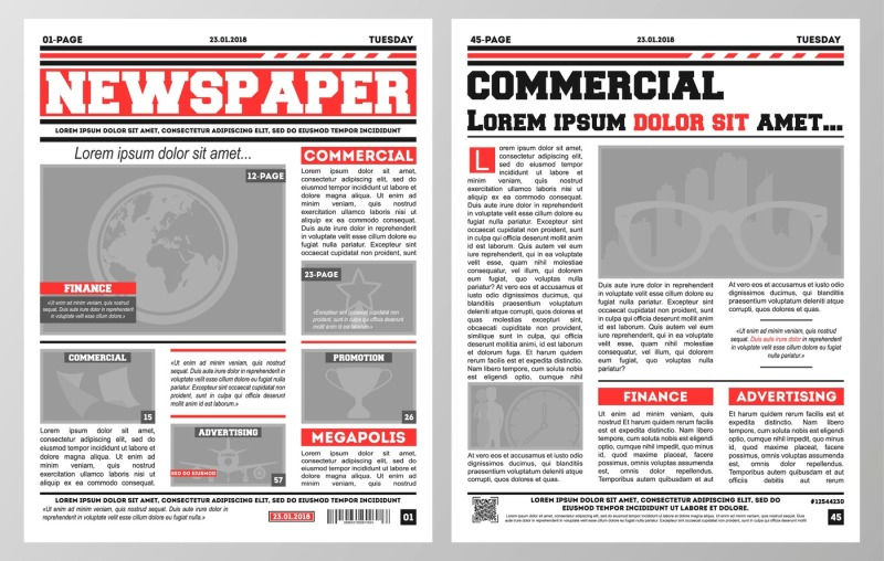 design-of-daily-newspaper-template-with-two-pages-opened