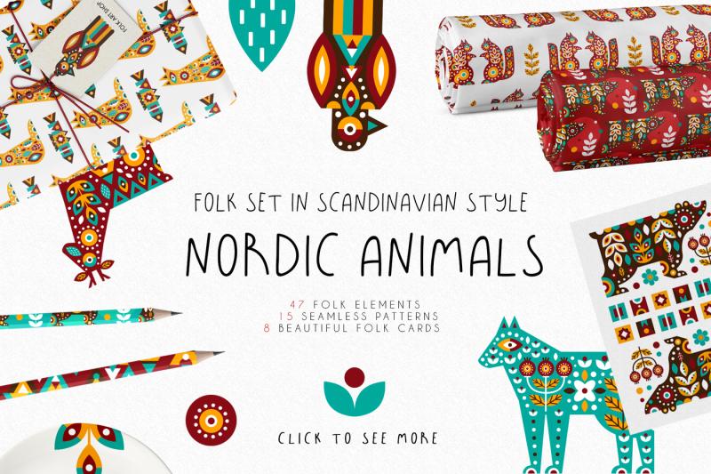 nordic-animals-folk-set